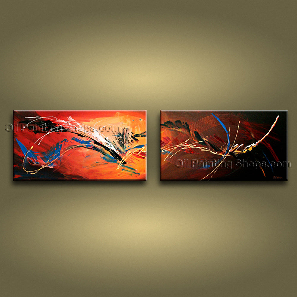 Hand-painted Astonishing Modern Abstract Painting Wall Art Interior Design