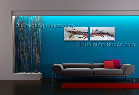 Hand-painted Amazing Modern Abstract Painting Wall Art Decoration Ideas