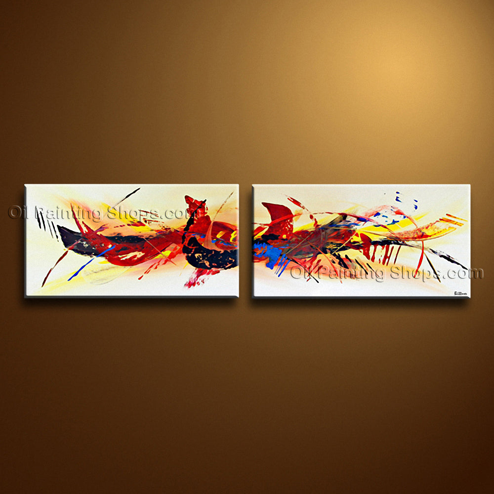 Hand Painted Astonishing Modern Abstract Painting Wall Art Inner Stretched