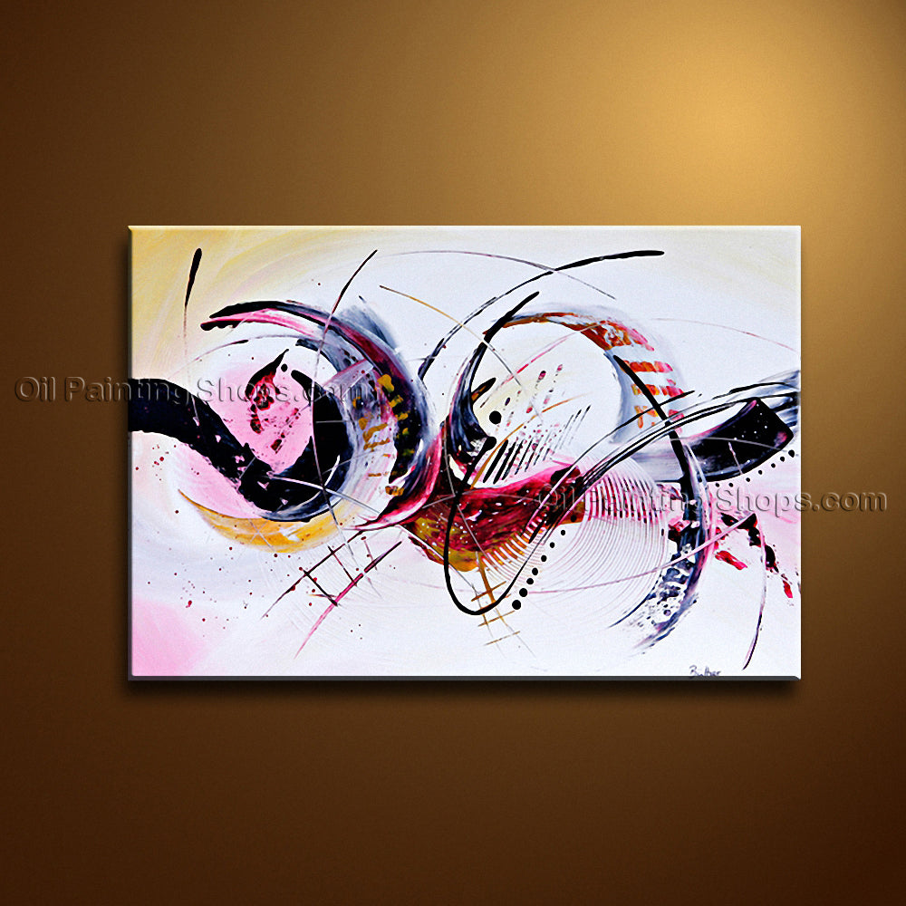 Hand-painted Amazing Modern Abstract Painting Wall Art Gallery Wrapped
