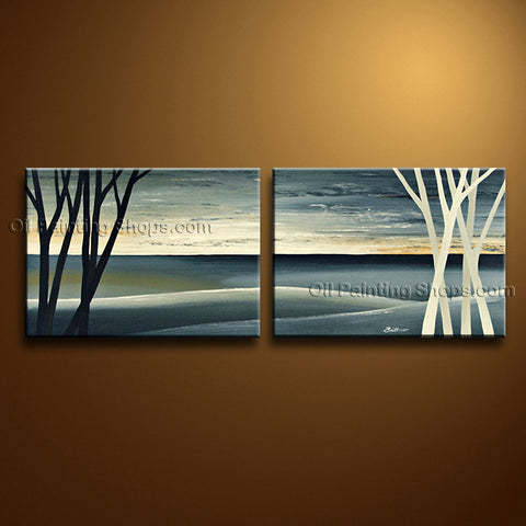 Handmade Stunning Contemporary Wall Art Landscape Painting Interior Design