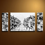 Hand-painted Stunning Modern Abstract Painting Wall Art Inner Framed