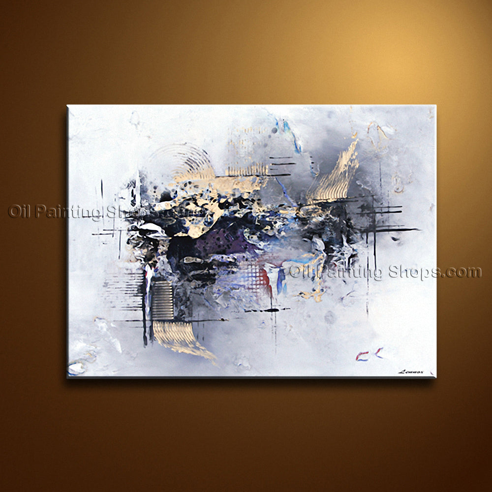 Hand-painted Astonishing Modern Abstract Painting Wall Art Gallery Wrapped
