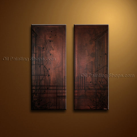 Hand-painted Elegant Modern Abstract Painting Wall Art Gallery Wrapped