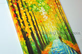 Stunning Contemporary Wall Art Landscape Painting Park Tree Paintings