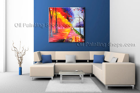 Stunning Contemporary Wall Art Landscape Painting Park Artist Artworks