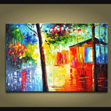 Stunning Contemporary Wall Art Landscape Painting Park Ready To Hang