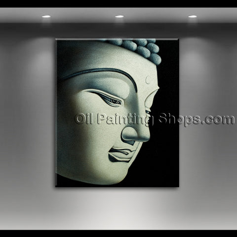 hand painted buddha oil painting feng shui zen art on canvas modern abstract