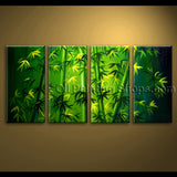 Large Unique Original Abstract Feng Shui oil Painting Bamboo Zen Art On Canvas