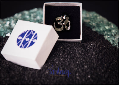 Adjustable Handmade Silver OM Ring
