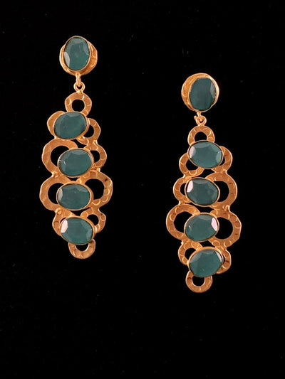 Lauren Chalcedony Gold Earring