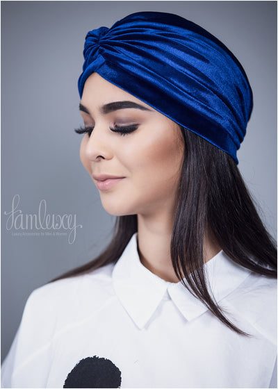 Silky Blue Turban