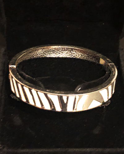 White and Silver Bangle
