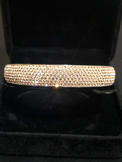 Gold Bangle, Full Stone