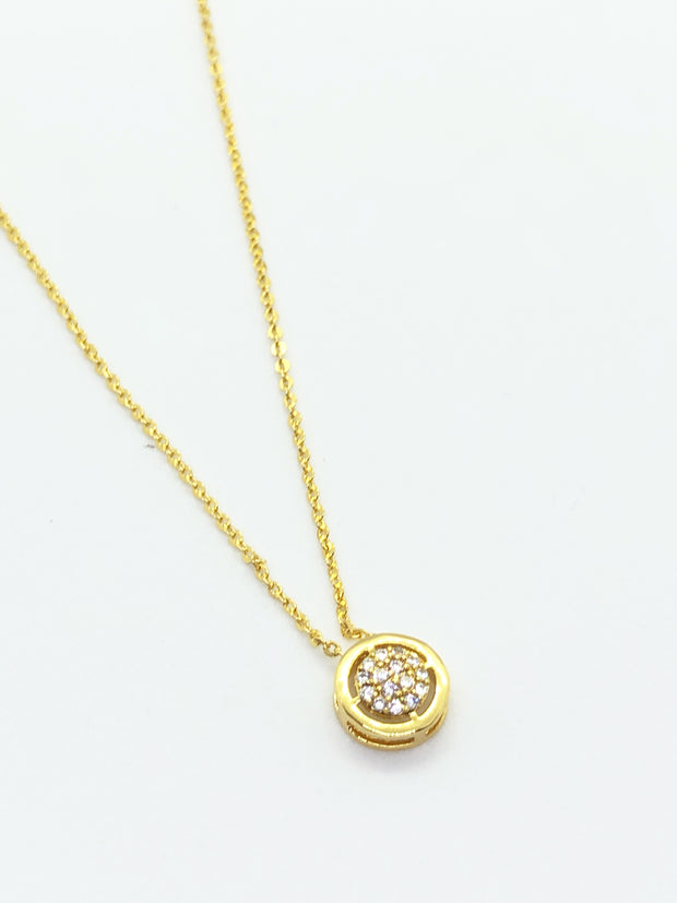 Gold Single Stud Necklace