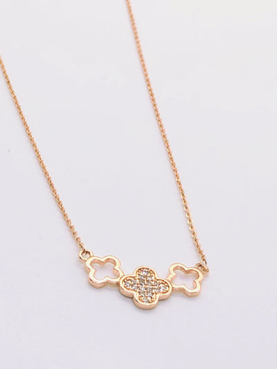 Rose Gold 3 Clover Necklace