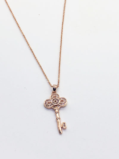 Rose Gold Key Necklace