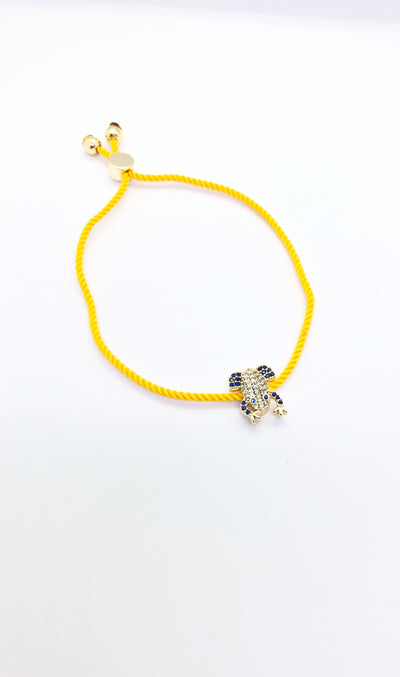 Gold Frog Yellow Band Bracelet