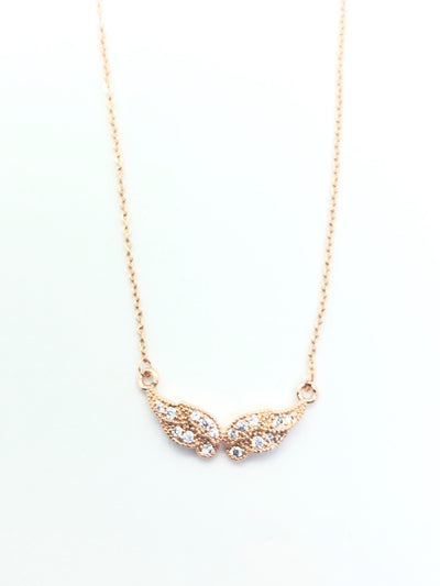Gold Mini Angel Wings Necklace