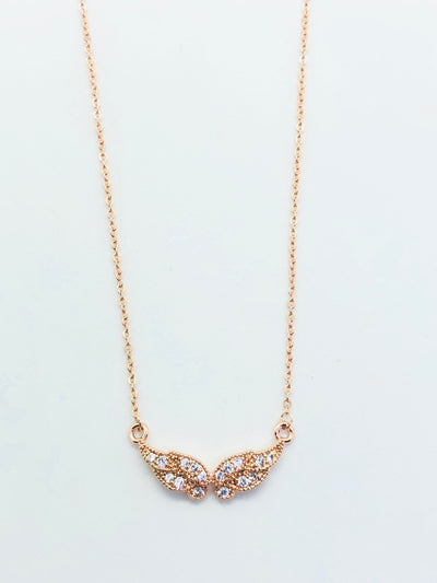 Rose Gold Mini Angel Wings Necklace