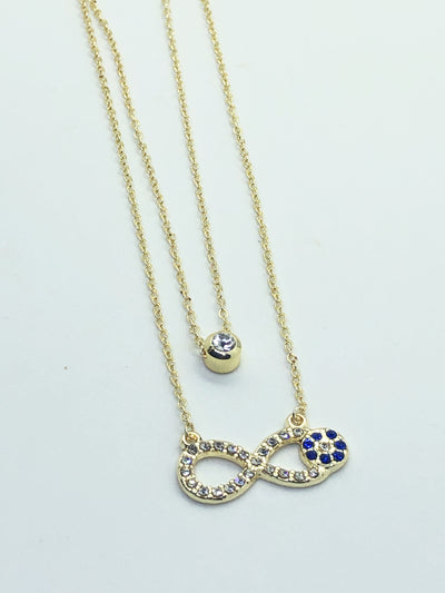 Gold Double Layer Infinity Necklace