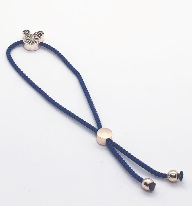 Rose Gold Hello Kitty Bracelet with Dark Blue Band