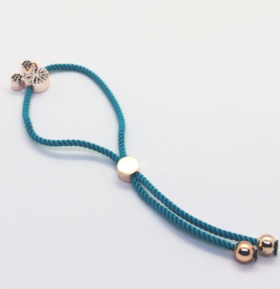 Rose Gold Hello Kitty Bracelet with Light Blue Band
