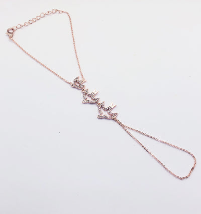 Rose Gold Hand Chain Bird Bracelet