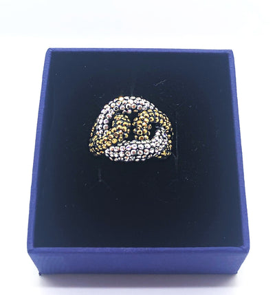 Gold And Silver Shiny Ring