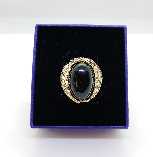Gold Ring With Onyx Stone