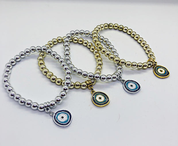 Gold And Silver Evil Eye Bracket