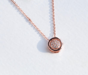 Rose Gold Single Stud Necklace