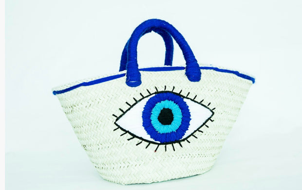 Stylish Handwoven Straw Beach Bag