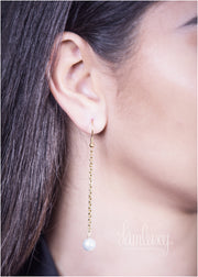 Gold plated hand made calligraphy earring  (Tanha Tou Beman)