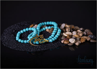 Handmade Natural Stone (TURQUOISE )necklace