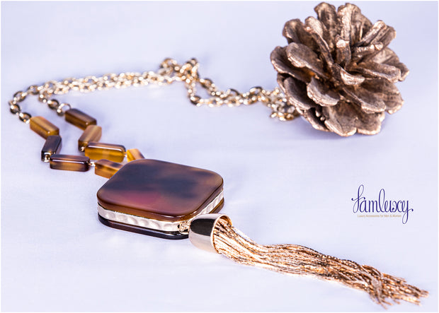 Gold Plated Long Fashion Necklace
