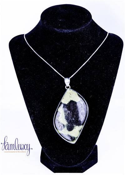 Silver pendent with natural stone