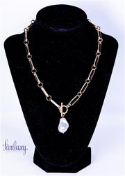 Gold plated chain with pearl