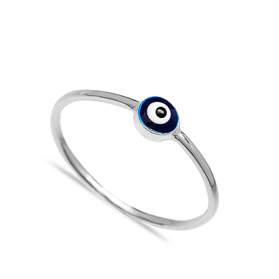 Evil Eyes Design Handcrafted Silver Ring