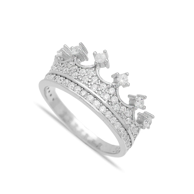 Crown Design Turkish Handcrafted Silver Ring