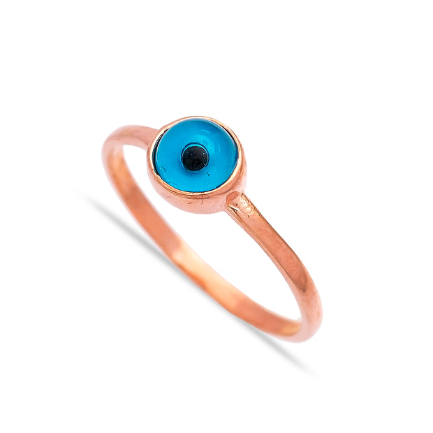 Evil Eye Design Turkish Handcrafted Infinite Silver Ring