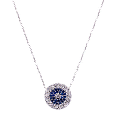 Evil Eye Turkish Handcrafted Silver Zirconia Pendant