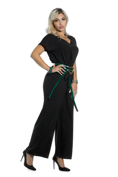CASUAL JUMPSUIT TIED AT WAIST