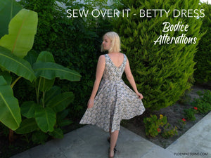 Betty dress - bodice pattern alterations