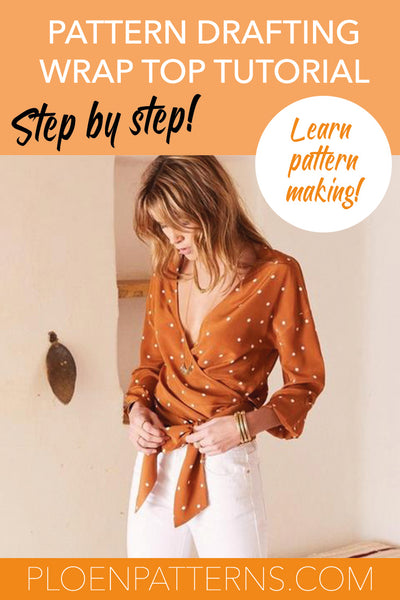 How to draft a wrap blouse - Step by step pattern making tutorial!