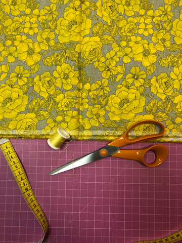 Chelsea garden yellow fabric
