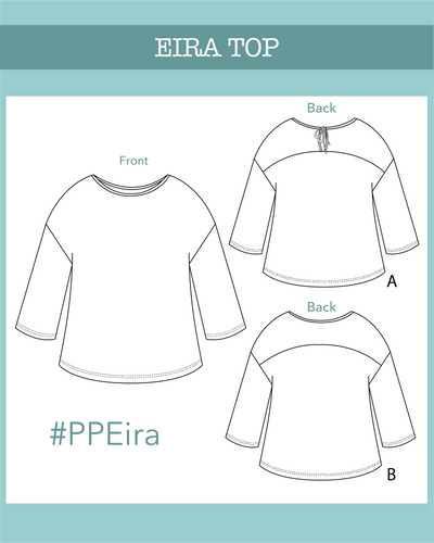 Eira top PDF Pattern - Ploen Patterns