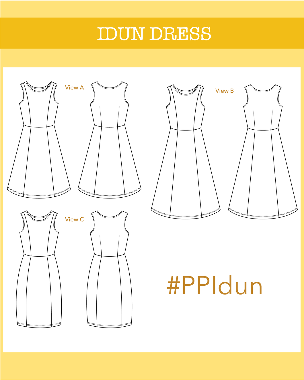 Idun jersey dress - PDF pattern - Ploen Patterns