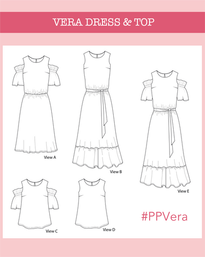 Vera dress & top PDF Pattern