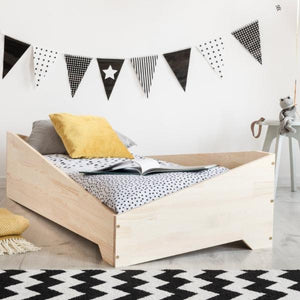 lit simple junior bois naturel montessori